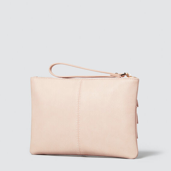 Spliced Tassel Pouch  NUDE  hi-res
