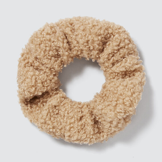 Teddy Scrunchie  CAMEL  hi-res