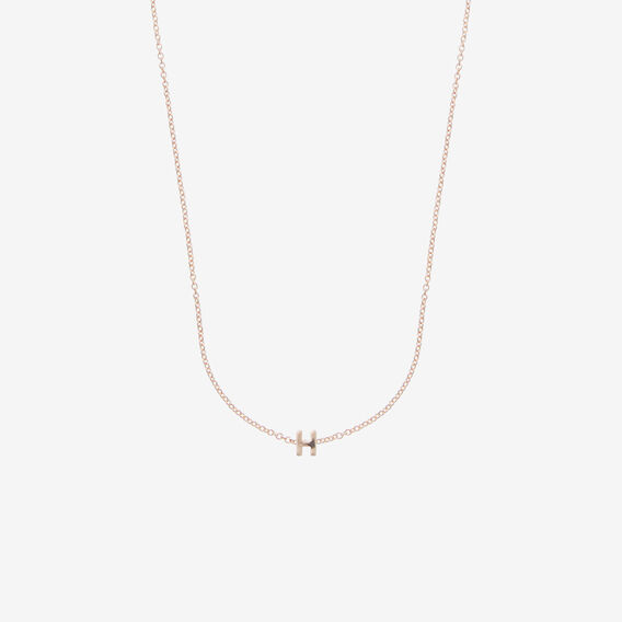Initial Necklace  H  hi-res