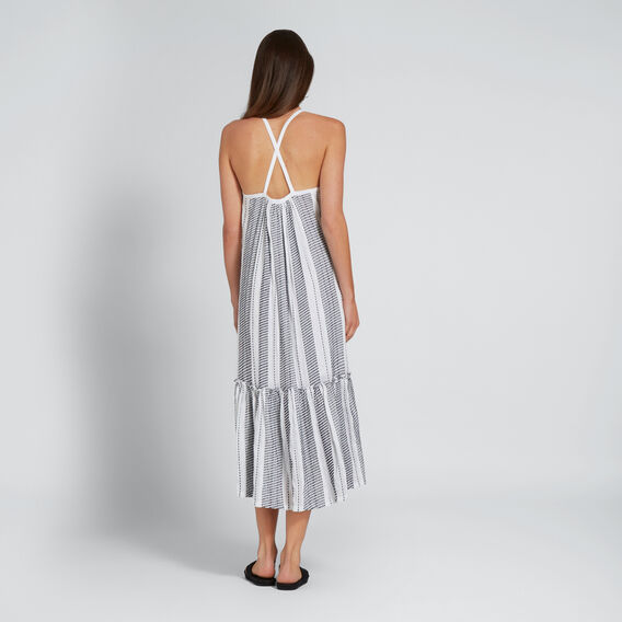 Cross-Back Relaxed Dress  WHISPER WHITE  hi-res