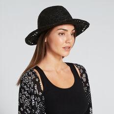Raffia Panama  BLACK  hi-res