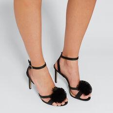 Sydney Pom Pom Heel  BLACK  hi-res