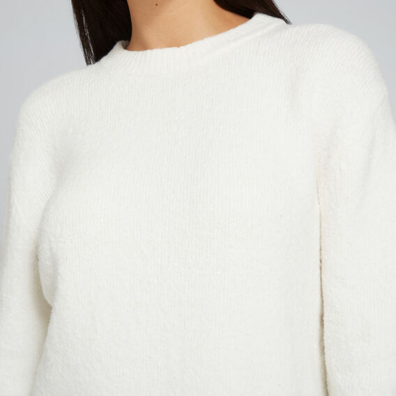 Relaxed Textured Sweater  CLOUD CREAM  hi-res