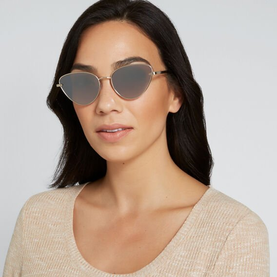 Ginger Cat Eye Sunglasses  GOLD  hi-res