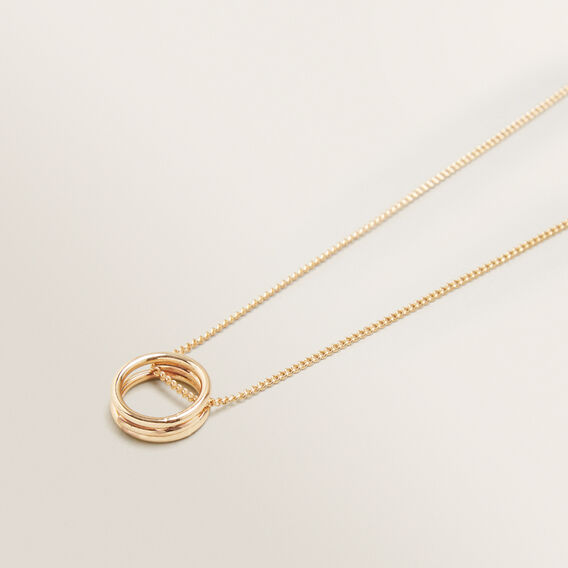 Ring Necklace  GOLD  hi-res