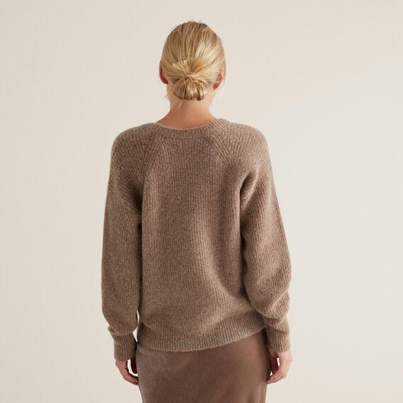 Cosy Rib Knit  WALNUT  hi-res