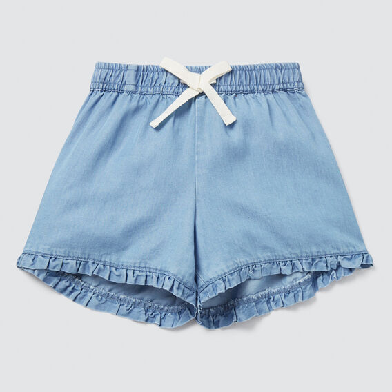 Tencel Shorts  SOFT BLUE WASH  hi-res