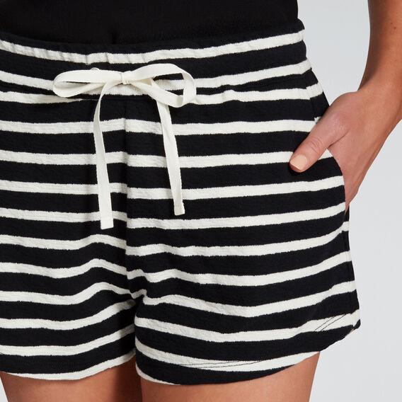 Textured Casual Short  BISQUE/BLACK  hi-res
