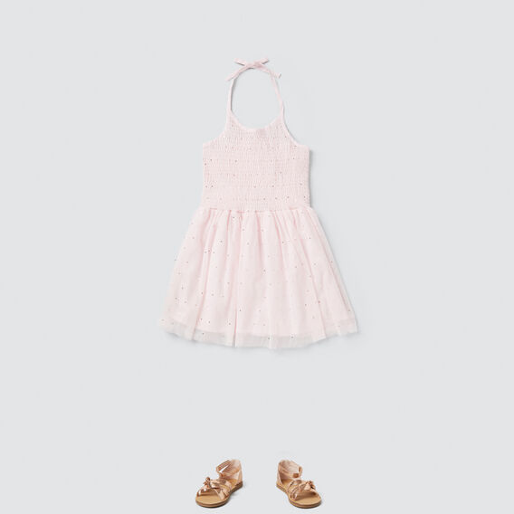 Foil Spot Dress  ICE PINK  hi-res