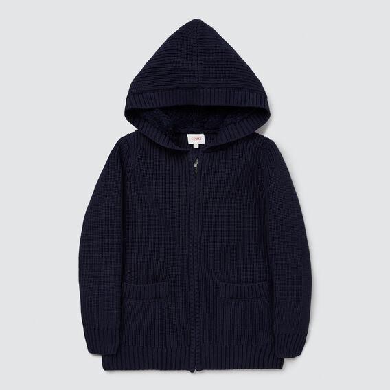 Sherpa Knit Hoodie  MIDNIGHT BLUE  hi-res