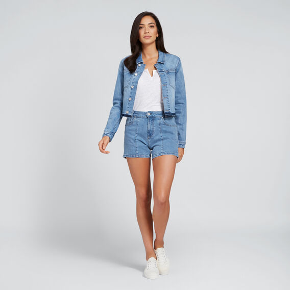 Cropped Denim Jacket  CLASSIC DENIM  hi-res