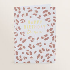 Greeting Card  LEOPARD  hi-res