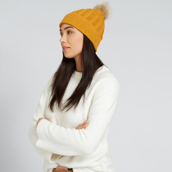 Simple Rib Beanie  GOLDEN MUSTARD  hi-res