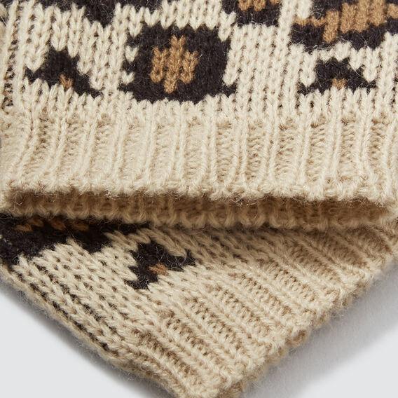 Ocelot Knit Mittens  SOFT BEIGE  hi-res