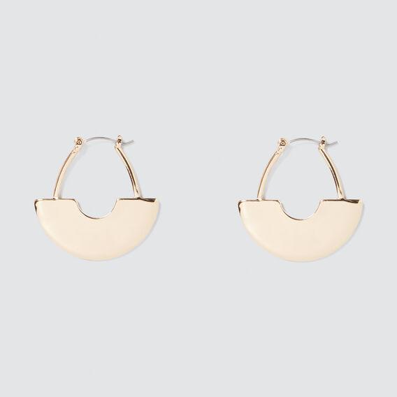 Scale Hoop Earrings  GOLD  hi-res