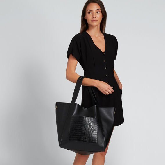 Blake Relaxed Tote  BLACK  hi-res