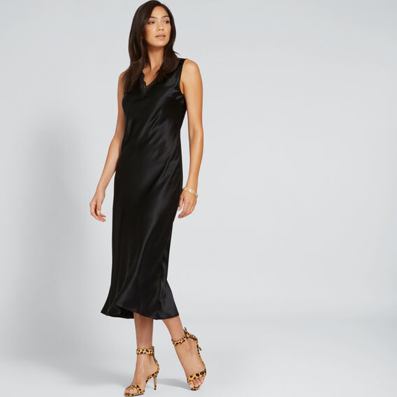 Lace Slip Dress  BLACK  hi-res