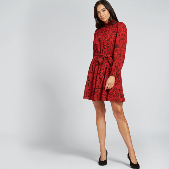 Animal Frill Dress  FIERY RED ANIMAL  hi-res