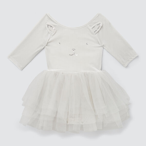 Velvet Bunny Tutu Dress  PEARL GREY  hi-res