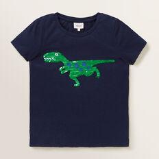 Flip Sequin Dino Tee  MIDNIGHT BLUE  hi-res
