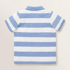 Stripe Polo  BRIGHT COBALT  hi-res