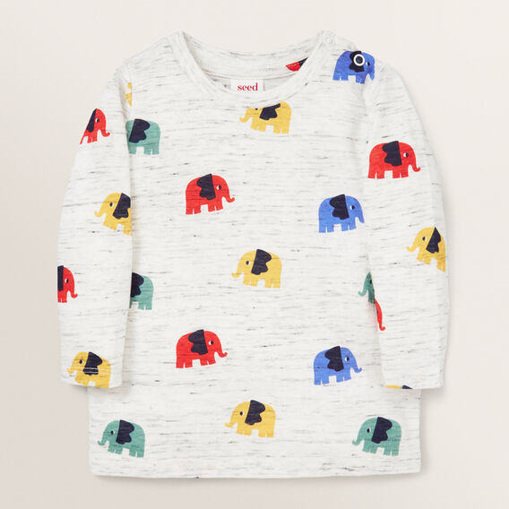 Long Sleeve Elephant Tee  VINTAGE SPACE DYE  hi-res