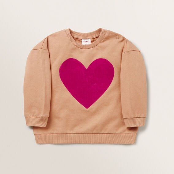 Flocked Heart Windcheater  MACAROON  hi-res