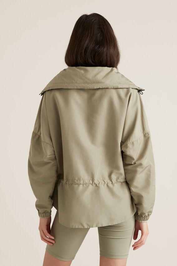 Elastic Waist Spray Jacket  WASHED OLIVE  hi-res