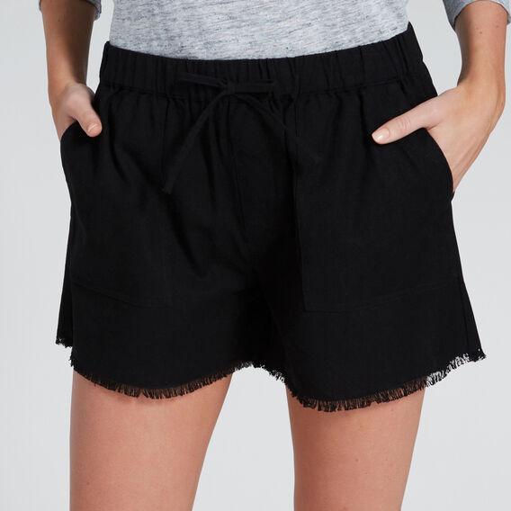 Casual Fray Hem Short  BLACK  hi-res