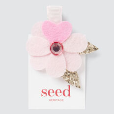 Felt Flower Clip  PINK  hi-res