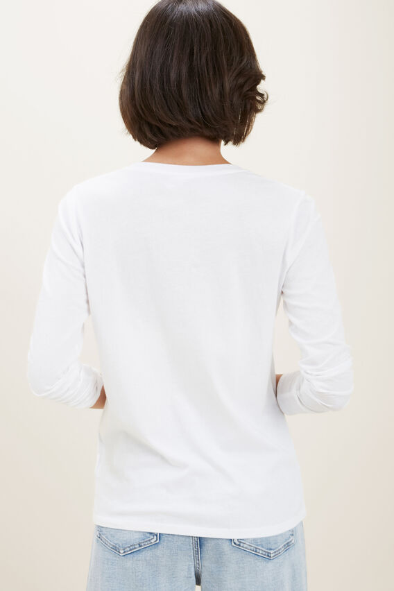 Classic Long Sleeve Top  WHISPER WHITE  hi-res