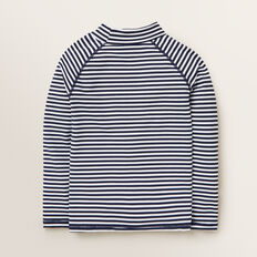 Stripe Motif Rashvest  MIDNIGHT BLUE  hi-res