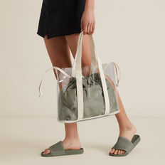 Transparent Tote  DEEP OLIVE  hi-res