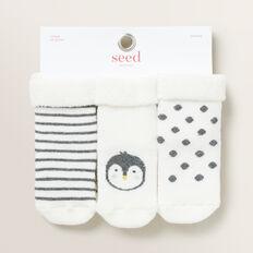 Penguin Cosy Socks  VANILLA  hi-res