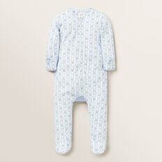 Bunny Bum Zipsuit (Available in size 00000)  POWDER BLUE  hi-res