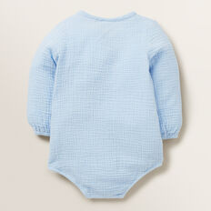 Wrap Cheesecloth Onesie  POWDER BLUE  hi-res