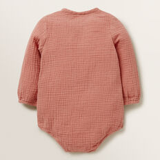 Wrap Cheesecloth Onesie  RHUBARB  hi-res
