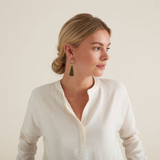 Ring Tassel Earring  RICH OLIVE  hi-res