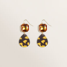 Stone Drop Earring  TORT  hi-res