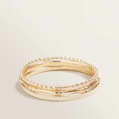Bamboo Bangle Set  GOLD  hi-res