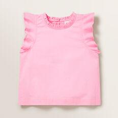 Frill Sleeve Top  PINK BLUSH  hi-res