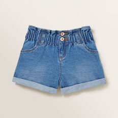 Paperbag Denim Shorts  CLASSIC BLUE  hi-res