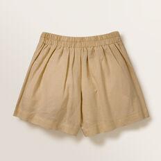 Linen Button Shorts  FAWN  hi-res