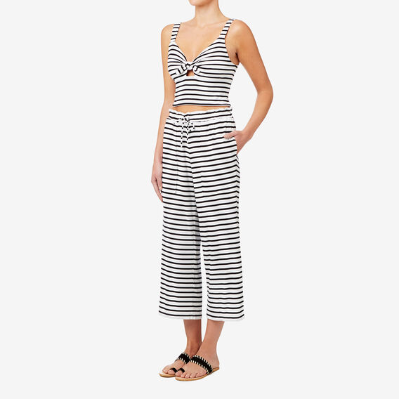 50s Stripe Crop  BLACK/WHITE STRIPE  hi-res