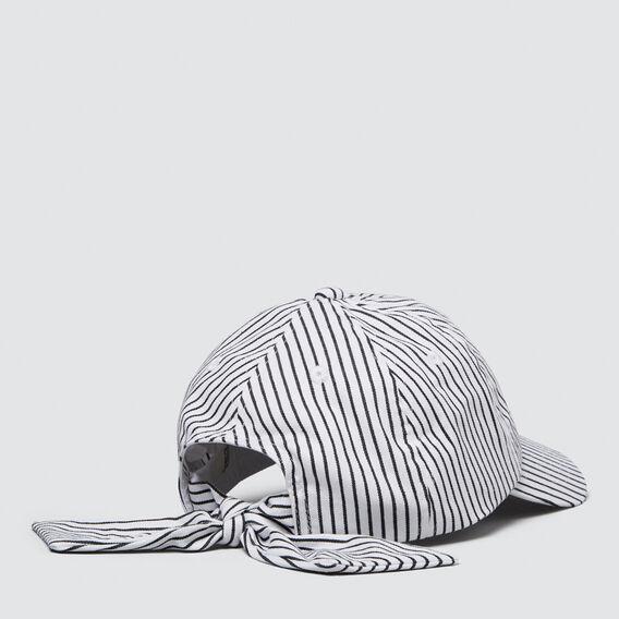 Stripe Tie Back Cap  WHITE  hi-res