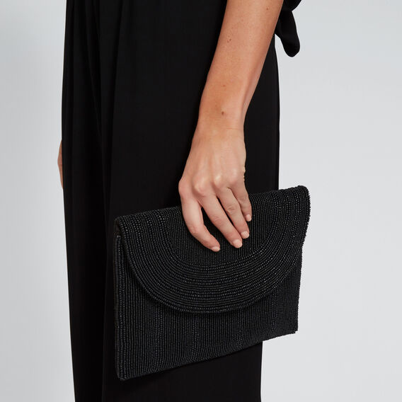 Winnie Beaded Clutch  BLACK  hi-res