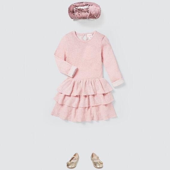 Metallic Lurex Knit Dress  ICE PINK  hi-res
