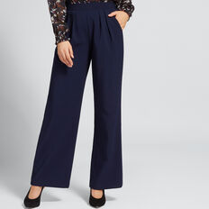 High Waist Pleat Pant  NAUTICAL BLUE  hi-res