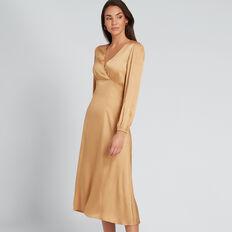 Spot Wrap Dress  GOLDEN TAN  hi-res