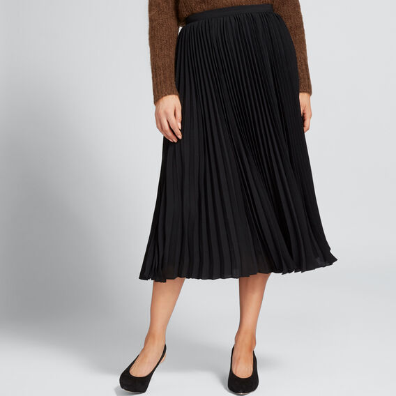 Classic Pleat Skirt  BLACK  hi-res